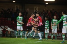 Shamrock Rovers suffer setback as managerless Derry earn much-needed win