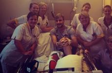 Thumbs up from Luke Shaw as he continues recovery from horror double leg break