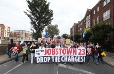 Crowds turn out for Dublin march in support of Jobstown protesters