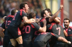 'The greatest win of my career' - Georgia celebrate like they've just won the World Cup