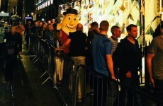 Even Mr Tayto had to queue for Coppers to celebrate the Dubs' All-Ireland win