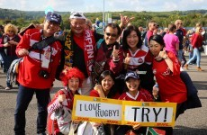 Jubilant Japanese fans force official Rugby World Cup store to close in London