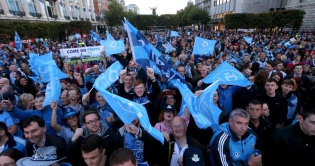 Thousands of fans turn O'Connell Street blue for Dublin's Sam Maguire celebrations