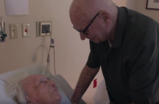 A heart-melting video of a man singing to his dying wife is going viral