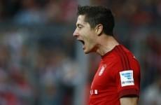 Robert Lewandowski has just scored five goals in less than 10 minutes against Wolfsburg