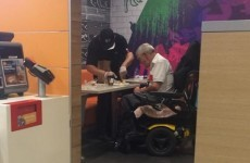 A McDonald's cashier's lovely act of kindness for an elderly man is going viral