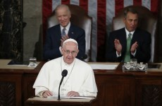 The Pope brought up some controversial topics with US politicians today