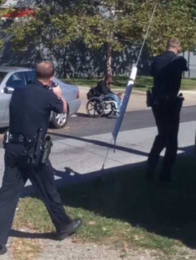 Investigation under way after US police shoot dead armed man in a wheelchair