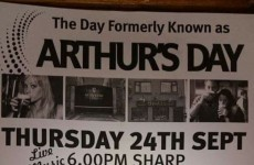 One Irish pub still celebrated Arthur's Day yesterday