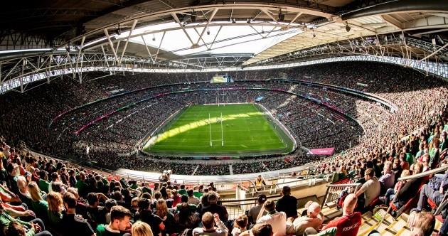 Ireland fans turn Wembley green to break World Cup attendance record