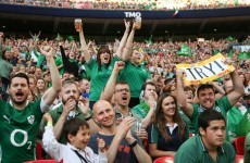 Jamie Heaslip thanks the record-breaking crowd that turned Wembley green