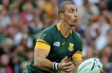 Ruan Pienaar again left out as Springboks make three changes for Scotland