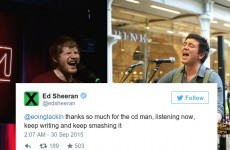 Here's how one Irish singer got Ed Sheeran to tweet him some serious praise