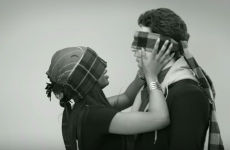 Blindfolded strangers were asked to kiss for the first time, and it was super cringe