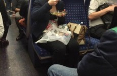 What food is acceptable to eat on public transport?
