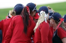 Weather affects play at Solheim Cup