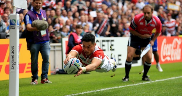 After shrugging off a Tuilagi tackle, this is an unbelievable flying finish