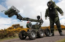 Army carry out controlled explosion on War of Independence-style hand grenade