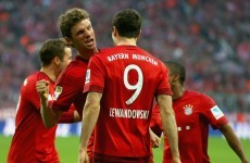 Robert Lewandowski continued his scary form as Bayern Munich