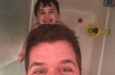 Perez Hilton sparked an online debate after posting this shower selfie with his son