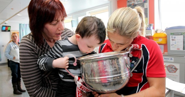 In pictures: Cork's All-Ireland-winning ladies visit Temple Street