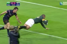 Watch the moment Bryan Habana equalled Jonah Lomu's World Cup try record