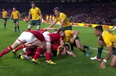 Here are the best bits from a memorable game between Australia and Wales