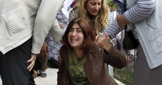 Scenes of anger and mourning as Turkey remembers 95 killed by bombings