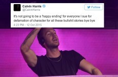 Calvin Harris is threatening to sue 'everyone' on Twitter over 'bullsh** stories'