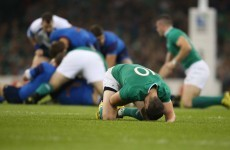 Johnny Sexton has been ruled out of Ireland's World Cup quarter-final
