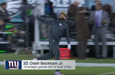 OBJ's insane windmill catch was the best bit of the Giants' forgettable night