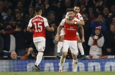 Helping hand from Olivier Giroud as Arsenal stun Bayern