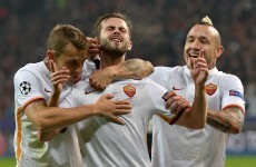 One of Ireland's Euro 2016 play-off opponents scored a belting free-kick for Roma tonight