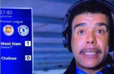 Chris Kamara somehow mangled 'goal-line technology' into 'techline lentology'