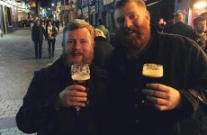 The two doppelgangers from the flight to Ireland ended up going for pints in Galway