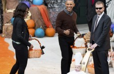 This toddler's Popemobile costume had President Obama cracking up