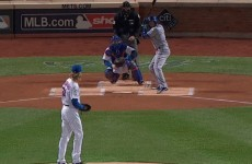 Syndergaard's pitch almost decapitates Escobar as the Mets get off the mark