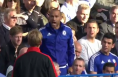 Jurgen Klopp clashed with a member of Chelsea's backroom staff during today's game