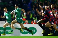 No Hallowe'en scare as Connacht continue brilliant Pro12 start against Edinburgh