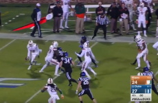 There's no point in trying to describe this miracle touchdown. Just watch it.