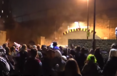 London police break up 'Scumoween' illegal rave and a street riot breaks out