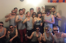 All this guy's friends dressed up as his embarrassing profile pic for Halloween