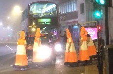 These guys dressed up as traffic cones, blocked the roads and baffled police