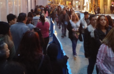 The queue for Penneys in Madrid is around the corner and absolutely insane