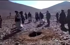 Disturbing video shows young woman being stoned to death