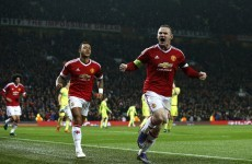 The drought is over! Rooney scores United's first goal in over 400 minutes