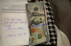 A woman was having 'one of those days' when a stranger handed her this lovely note