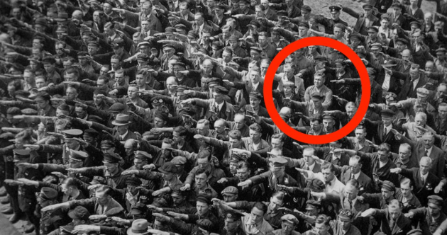 The tragically powerful story behind the lone German who refused to give Hitler the Nazi salute