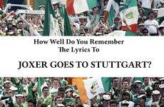 How Well Do You Remember The Lyrics To Joxer Goes To Stuttgart?