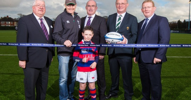 Joe Schmidt and Cian Healy on hand to open Clontarf's new 4G pitch